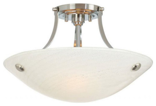 Neptune Semi-Flush Ceiling Mount - Modern - Bathroom Lighting And Vanity Lighting - by Lightology