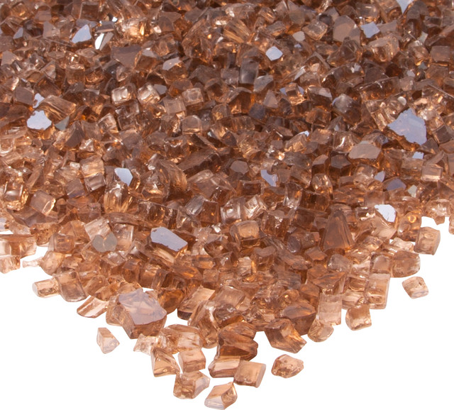 Fire Glass Filler, Copper Reflective Glass contemporary-fireplace-accessories