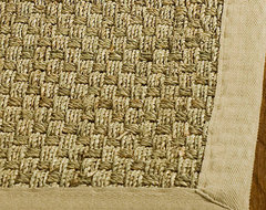 Handwoven Sisal Natural/Beige Seagrass Bordered Rug (5' x 8') contemporary-rugs