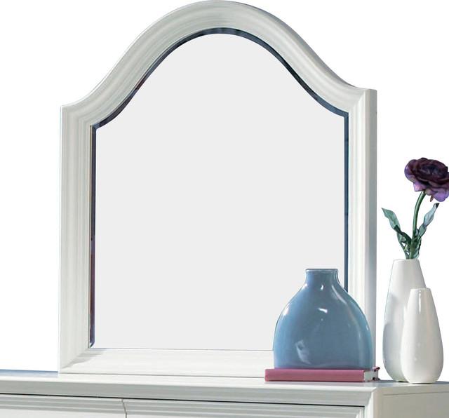Lea Elite Zoe Vertical/Landscape Mirror in White traditional-mirrors