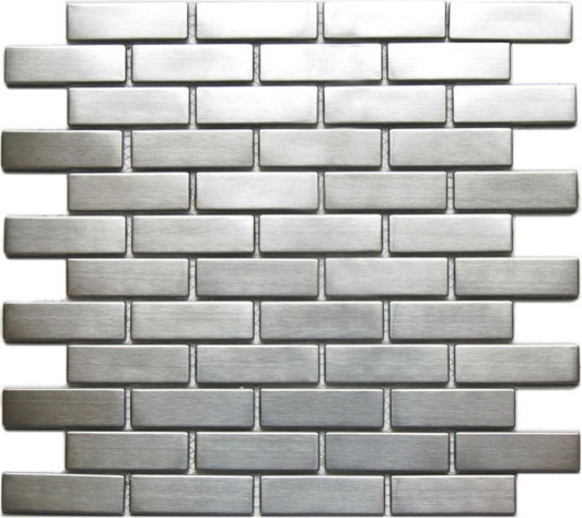 stainless steel tile 1 x 3 modern tile other metro