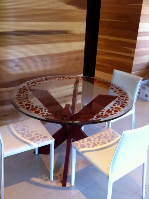 Glass Dining Table - Bubbly contemporary-dining-tables