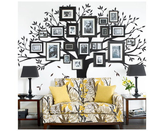 Family Tree Wall Decal - Simple Shapes