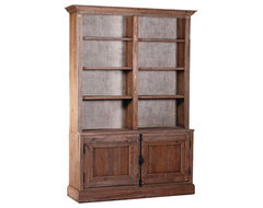 Burlap Backed Bookcase traditional-bookcases