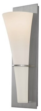 Murray Feiss Barrington Sconce - 5.25W in. Brushed Steel modern-wall-lighting