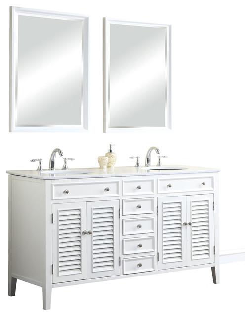 60 quot cottage style single sink bathroom vanity n1128