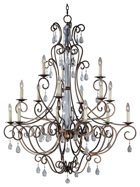Maxim Lighting - Tuscan Fifteen Light Up Lighting Three Tier Chandelier - Lighting your life since 1970, Maxim Lighting is committed to offering you outstanding quality and satisfaction.