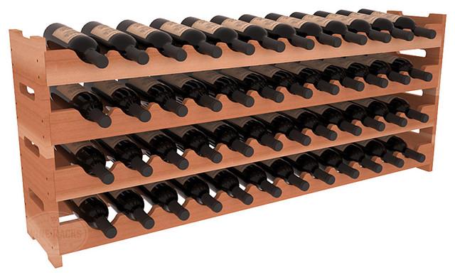 48 Bottle Scalloped Wine Rack in Redwood contemporary-wine-racks