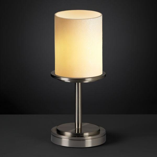 Justice Design CNDL-8798-10-CREM-NCKL Dakota 1-Light Table Lamp (Short) table-lamps