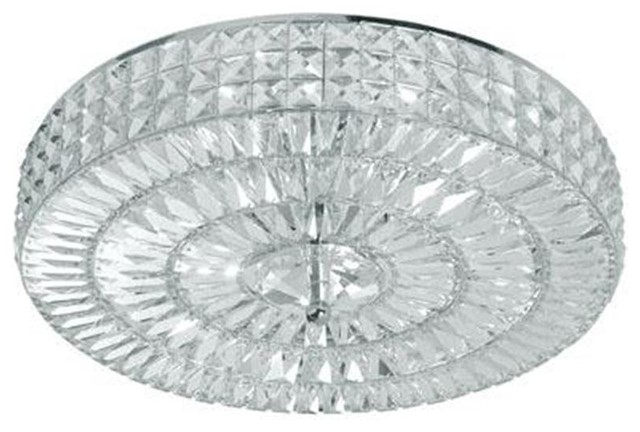 Crystorama 818-CH-CL-MWP Hand Polished Crystal Semi-Flush Chelsea Collection flush-mount-ceiling-lighting