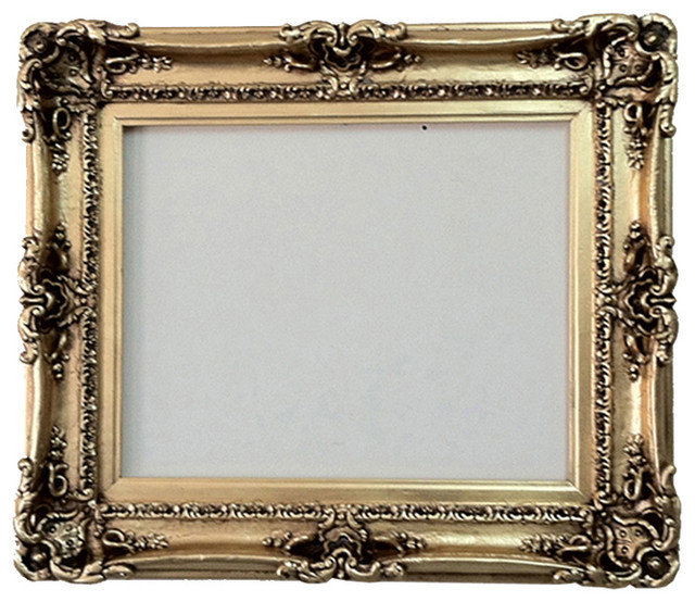 Gold decorative mirror picture frame with gold leaf 16x20 for 16x20 frame