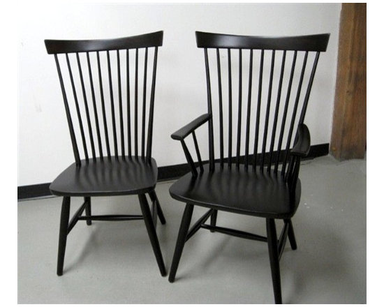 Black Federal Style Dining Chair - Made by http://www.ecustomfinishes.com