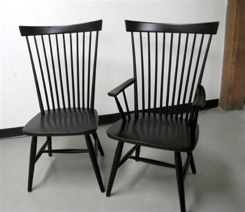 Black Federal Style Dining Chair Farmhouse Dining Chairs boston by EC