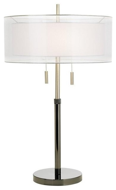 Contemporary Seeri Double Shade Table Lamp contemporary-table-lamps