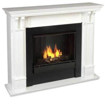 Gel Fuel Fireplaces: Real Flame Ashley 48 in. Gel Fuel Fireplace in White 7100-W contemporary-fireplaces