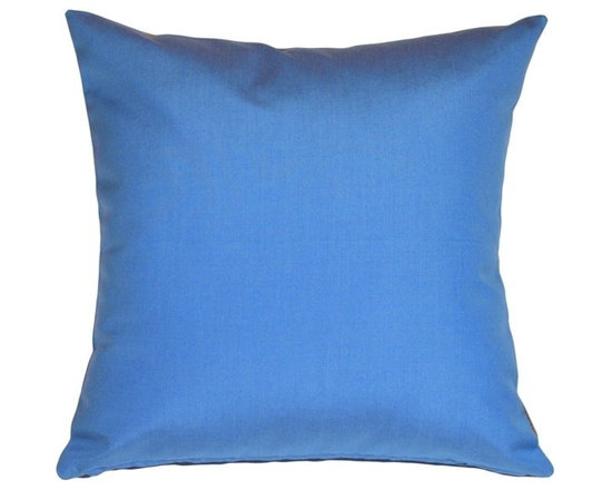 Pillow Decor - Pillow Decor - Sunbrella Outdoor Pillow - Sunbrella outdoor fabrics does it again! Add it to your outdoor room for cushy comfort. Mix it up with others in the series, like the striped pillows. You'll be the envy of the neighbors with these blue beauties!