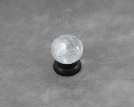 Rock Crystal Cabinet Knob with Oil Bronze Black finish - This cabinet knob is described as clean, natural milky white beauty that will enhance your interior .  An emphasis on basic shapes and forms that bridges contemporary and traditional design.