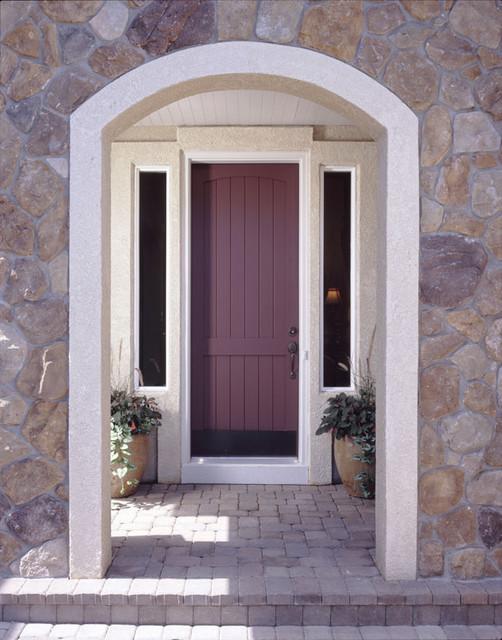 MDF Exterior V-Groove Door - Front Doors - by trustile.com