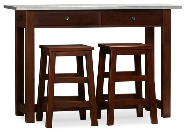 Counter-Height Table & Stools traditional bar stools and counter ...
