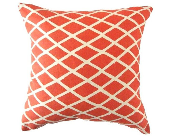 Pretty Pillows - Transform your apartment into a beach house with this excusite patter of coral and off white.