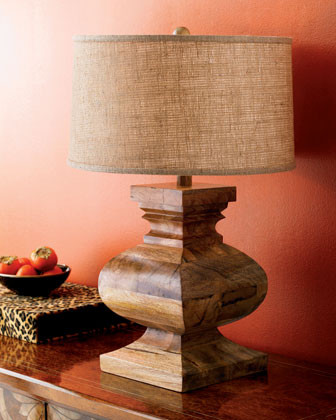 Acacia Wood Table Lamp traditional-table-lamps