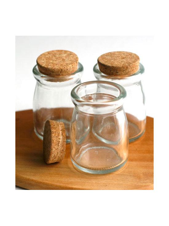 Corked Glass Pot -