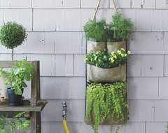 Hanging Bag Planter contemporary-outdoor-pots-and-planters