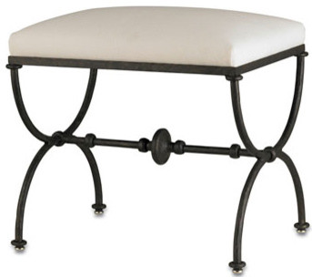 Wrough Iron Stool Traditional Indoor Benches By
