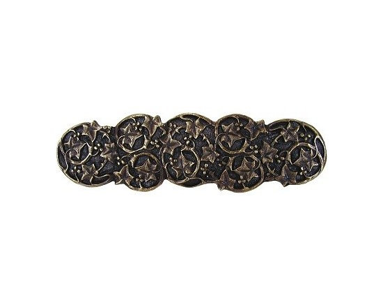 """Inviting Home - Ivy with Berries Pull (antique brass) - Hand-cast Ivy with Berries Pull in antique brass finish; 4""""W x 1-1/8""""H; Product Specification: Made in the USA. Fine-art foundry hand-pours and hand finished hardware knobs and pulls using Old World methods. Lifetime guaranteed against flaws in craftsmanship. Exceptional clarity of details and depth of relief. All knobs and pulls are hand cast from solid fine pewter or solid bronze. The term antique refers to special methods of treating metal so there is contrast between relief and recessed areas. Knobs and Pulls are lacquered to protect the finish."""