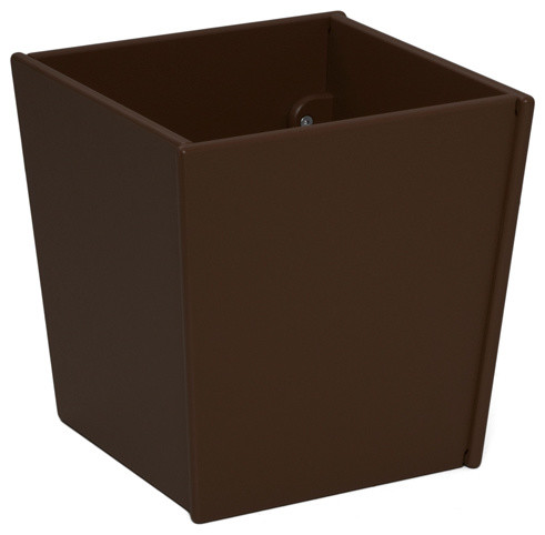 Loll designs chocolate brown taper square bin and planter for Loll planters