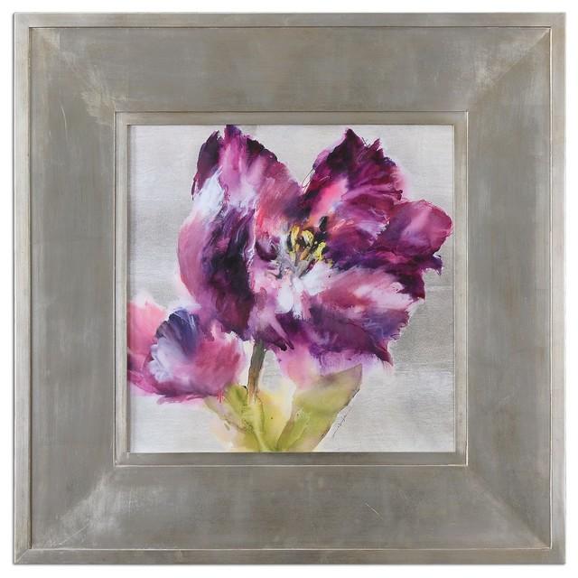 Grace Feyock Purple Fluorish Wall Art X-92314 contemporary-artwork