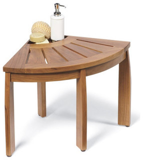 Teak Corner Bench - Traditional - Upholstered Benches - by ...