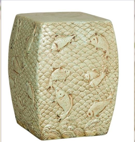 Square Garden Stool traditional-accent-and-garden-stools