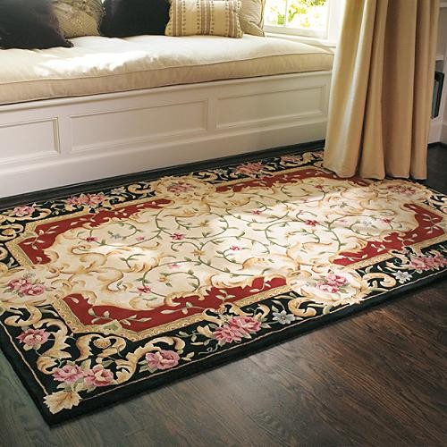Bella Flora Rug Traditional Rugs by FRONTGATE