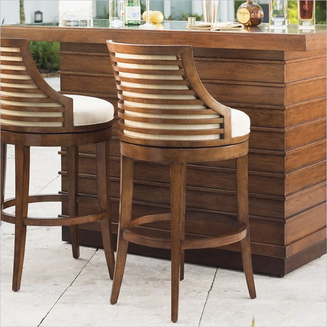 Tommy bahama home ocean club cabana swivel bar stool for Modern dining chairs vancouver