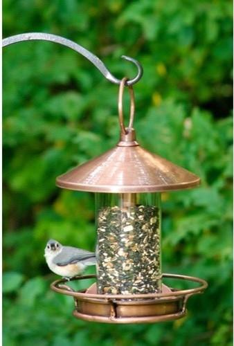 Good Directions Venetian Bronze Classic Perch Bird Feeder contemporary-bird-feeders