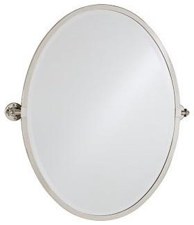 Kensington Pivot Mirror Oval Antique Bronze Finish Traditional Bathroom Mirrors By