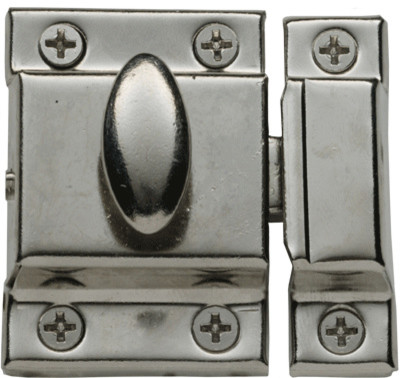 Large Plated Cabinet Latch traditional-hardware