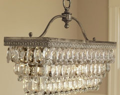 Clarissa Glass Drop Rectangular Chandelier by Pottery Barn contemporary chandeliers