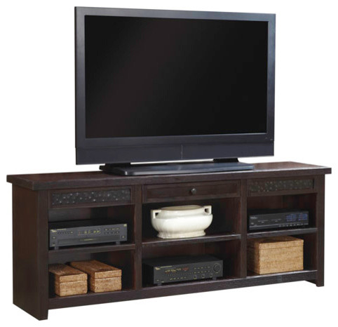 Entertainment Console with Metal Accent Drawers traditional-entertainment-centers-and-tv-stands