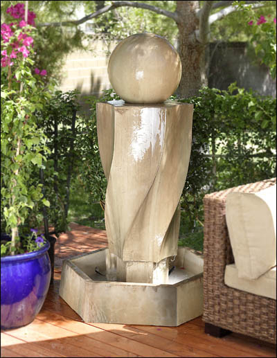 Vortex Outdoor Fountain traditional-outdoor-fountains-and-ponds