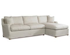 Parisian Loft Slipcovered Sectional traditional-sectional-sofas