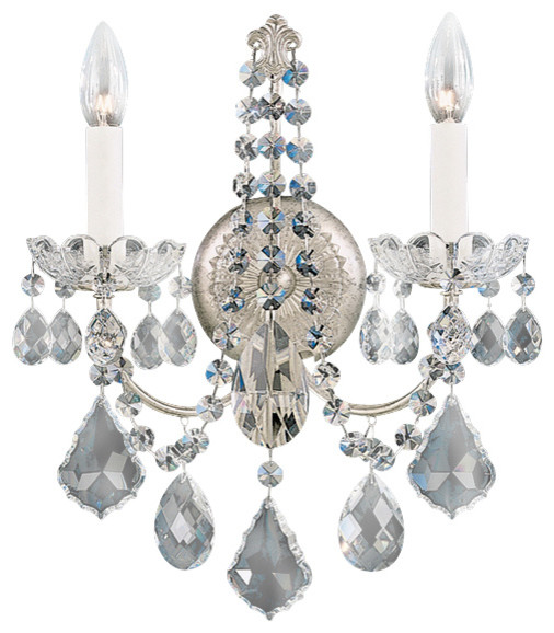 Schonbek Lighting 3651-48H New Orleans Antique Silver Wall Sconce traditional-wall-sconces