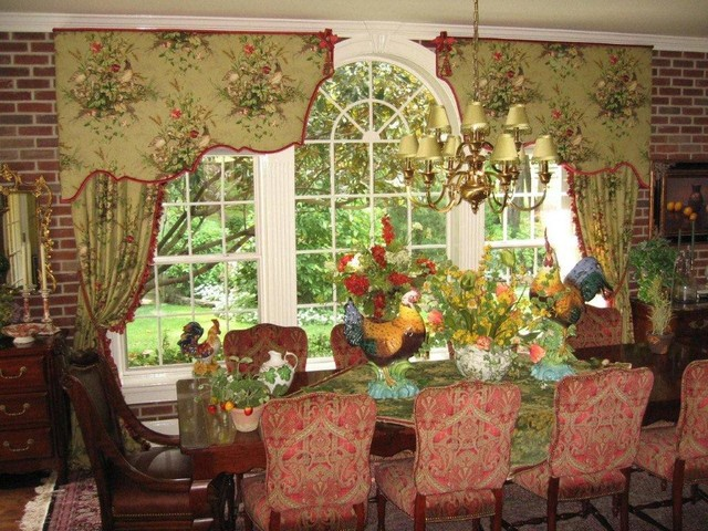 Window treatments from our custom workroom eclectic-window-treatments