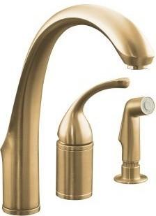 Kohler K-10430-BV Brushed Bronze Forte Single Handle Kitchen Faucet contemporary-kitchen-faucets