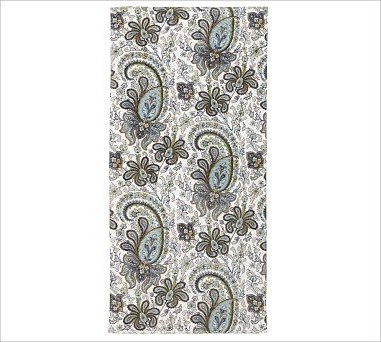 Charlie Paisley Organic Bath Towel Blue Traditional
