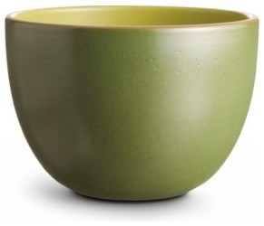 Deep Serving Bowl, Avocado/Olive contemporary-serving-and-salad-bowls