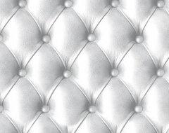 Leather Wallpaper - Koziel Kapyton trompe l'oeil pure white - wallcovering by Co