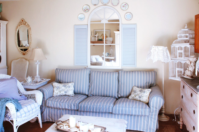Custom IKEA Ektorp Round Arm sofa Slipcovers in Nautical Fabrics - Beach Style - melbourne - by ...