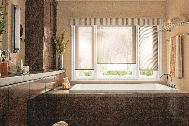 Window Treatments Contemporary Bathroom Atlanta By